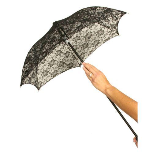 Adult Lace Parasol Costume Umbrella