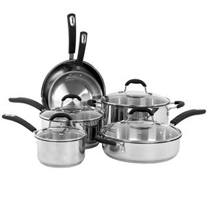 Oneida 10-pc. Stainless Steel Cookware Set