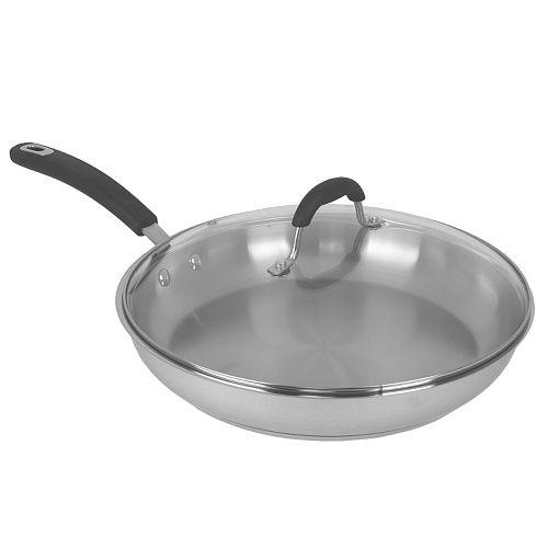 Oneida 12-in. Stainless Steel Frypan