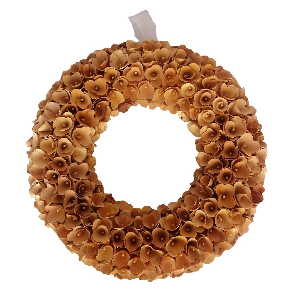 Lloyd Hannah Wood Curl Wreath