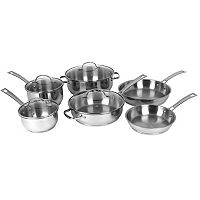 Oneida 10 pc Polished Mirror Stainless Steel Cookware Set