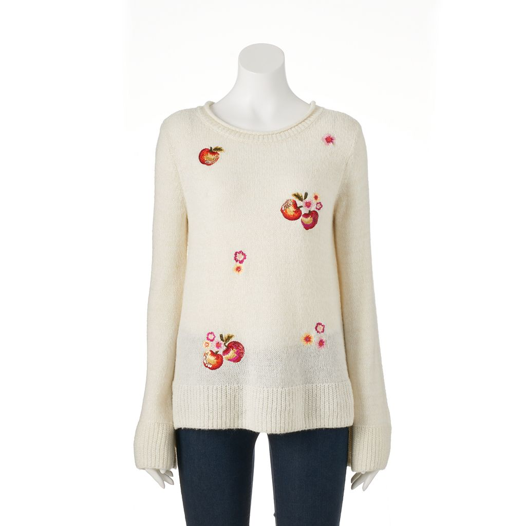Disney's Snow White A Collection by LC Lauren Conrad Apple Boatneck Sweater