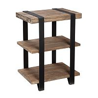 Alaterre Modesto 2-Shelf End Table