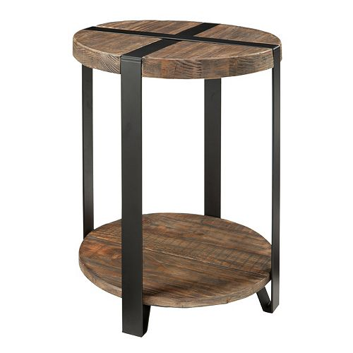 Alaterre Modesto Round End Table