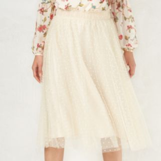 Disney's Snow White A Collection by LC Lauren Conrad Swiss Dot Tulle Skirt - Women's