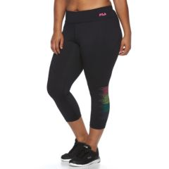 Plus Size FILA SPORT® Reflective Dot Crop Leggings