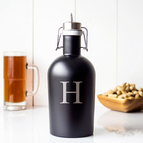 Cathy's Concepts 64-oz. Monogram Stainless Steel Craft Beer Growler