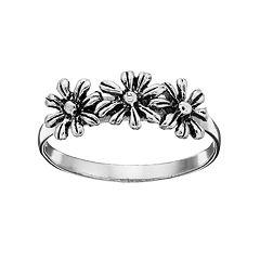 PRIMROSE Sterling Silver Daisy Ring