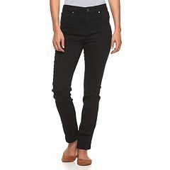 Petite Gloria Vanderbilt Bridget Slim Straight-Leg Jeans