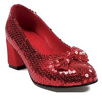 Adult Red Sequin Costume Shoes