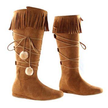 Adult Fringe Costume Boots