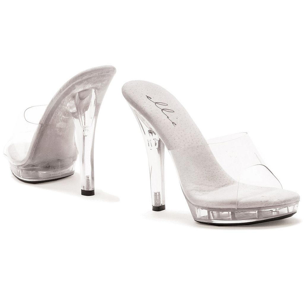Adult Clear Peep-Toe Costume Shoes
