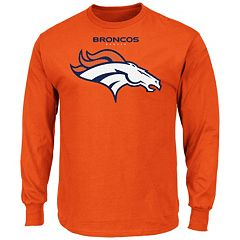 Mens Denver Broncos Charcoal End Around Pullover Hoodie