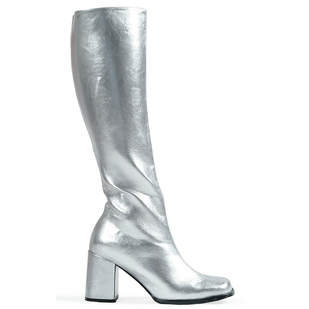 Adult Size 6 Metallic Knee-High Gogo Costume Boots