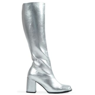 Adult Size 6 Metallic Knee-High Gogo Costume Boots