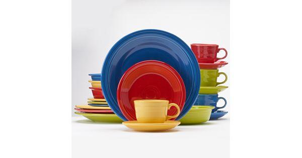 Fiesta Bright Colors 20 Pc Dinnerware Set
