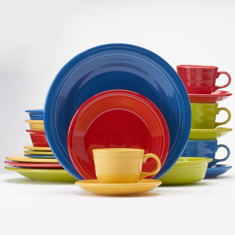 fiesta bright colors 20pc dinnerware set - Fiesta Plates