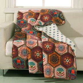 Patterned Reversible Quilted Throw