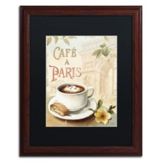 Trademark Fine Art Cafe in Europe I Matted Framed Wall Art