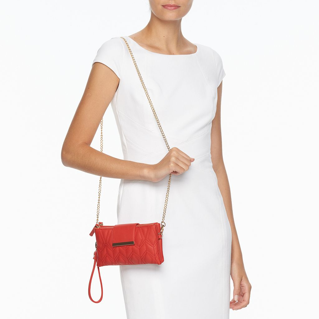 Olivia Miller Janis Quilted Flap Crossbody Bag