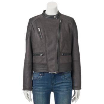 Juniors' Coffee Shop Asymmetrical Zip Jacket