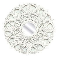 Fetco Home Decor White Laun Wall Mirror