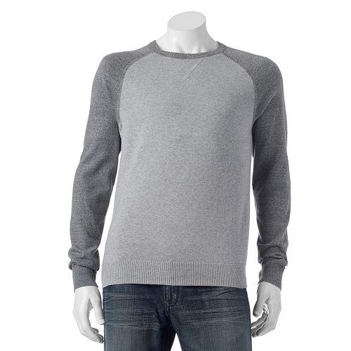 Men's SONOMA Goods for Life® Classic-Fit Colorblock Fine Gauge Crewneck Sweater