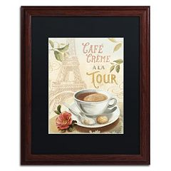 Trademark Fine Art Cafe in Europe II Matted Framed Wall Art