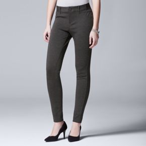 Women's Simply Vera Vera Wang Ponte Skinny Pants