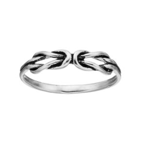 PRIMROSE Sterling Silver Double Knot Ring