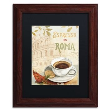 Trademark Fine Art Cafe in Europe III Wood Finish Framed Wall Art