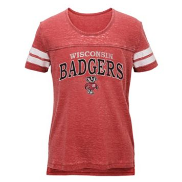 Juniors' Wisconsin Badgers Throwback Tee