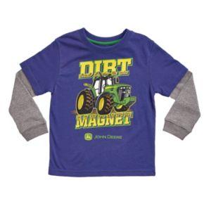 """Baby Boy John Deere """"Dirt Magnet"""" Skater Tee"""