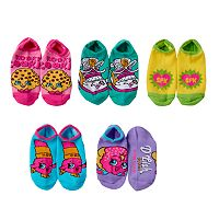 Girls 4-16 Shopkins 5-pk. No-Show Graphic Socks