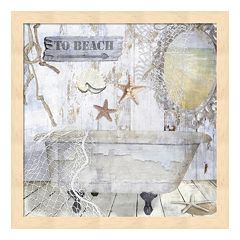 Metaverse Art Beach House I Framed Wall Art