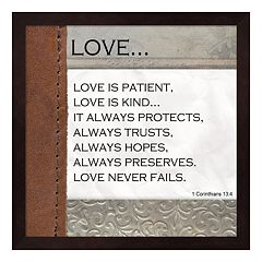 Metaverse Art 'Love is Patient' Framed Wall Art