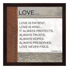 """Metaverse Art """"Love is Patient"""" Framed Wall Art"""