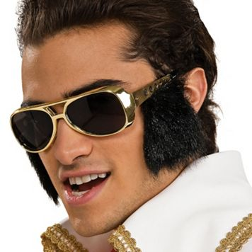 Adult Elvis Costume Sunglasses & Sideburns