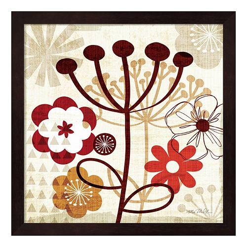 Metaverse Art Floral Pop III Framed Wall Art