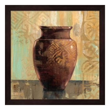 Metaverse Art Glazed Pot II Framed Wall Art