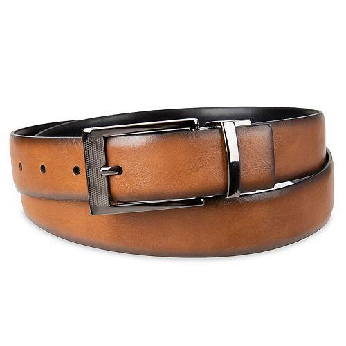 Men's Apt. 9® Reversible Burnished-Edge Belt