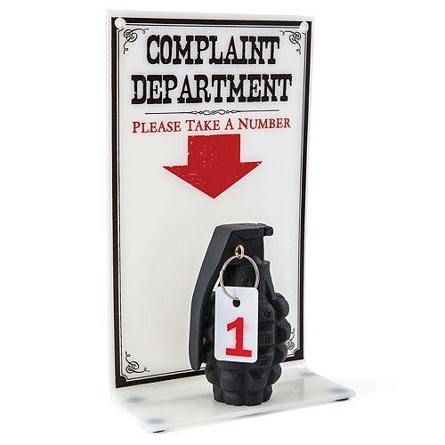 """BigMouth Inc. """"Complaint Department"""" Sign"""