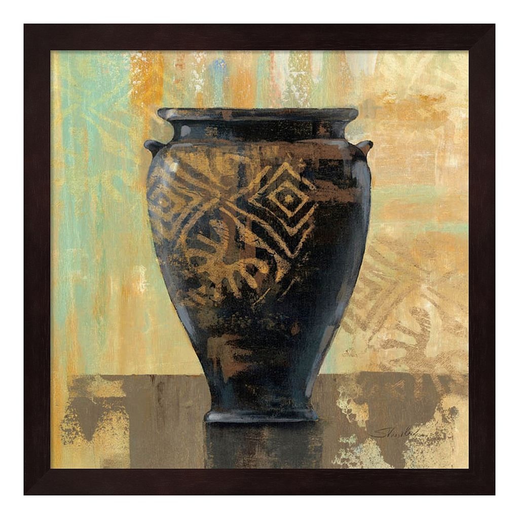 Metaverse Art Glazed Pot III Framed Wall Art