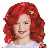Kids Strawberry Shortcake Deluxe Costume Wig