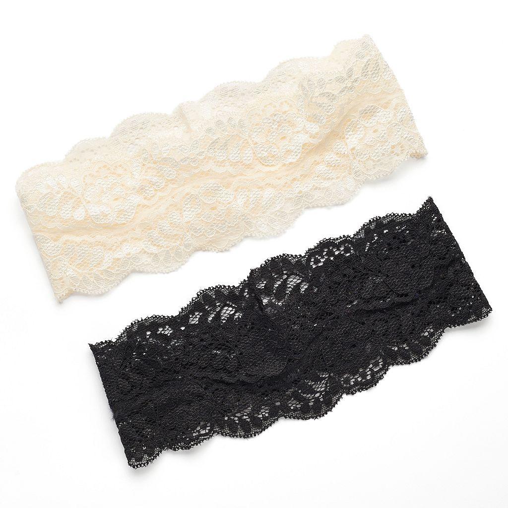Mudd® 2-pc. Floral Lace Head Wrap Set