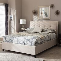 Baxton Studio Queen Lea Tufted Platform Bed