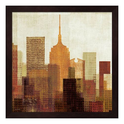 Metaverse Art Summer in the City II Framed Wall Art