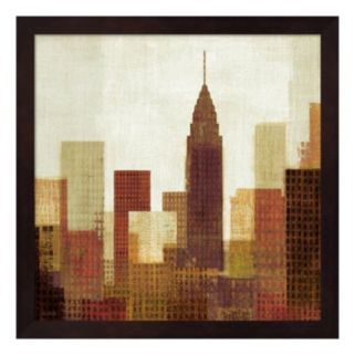 Metaverse Art Summer in the City III Framed Wall Art
