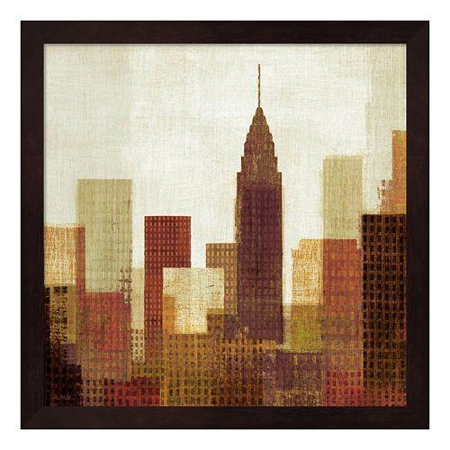 Metaverse Art Summer in the City III Framed Wall Art