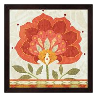 Metaverse Art Ikat Bloom I Framed Wall Art